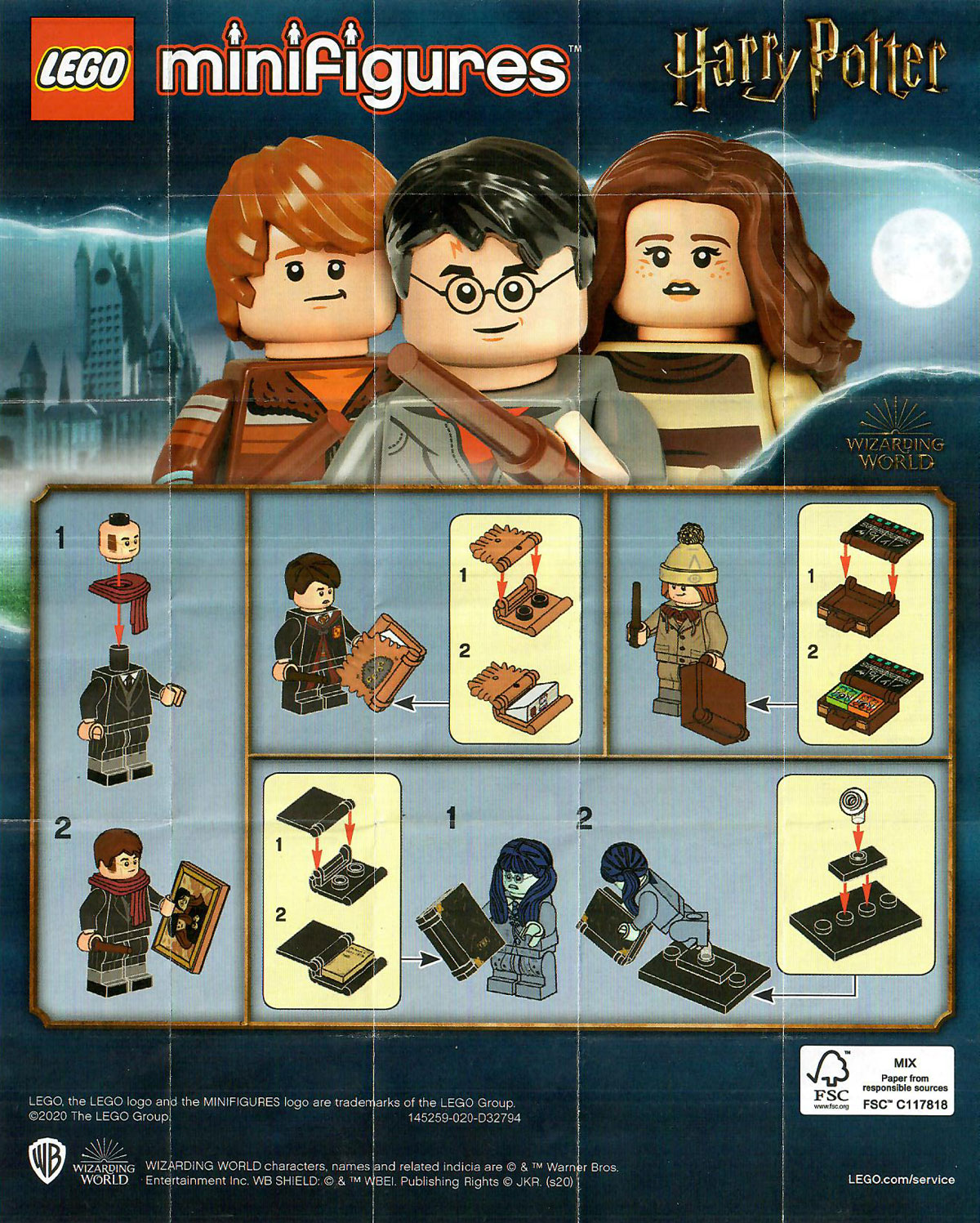 lego harry potter cmf series 2 71028 character insert
