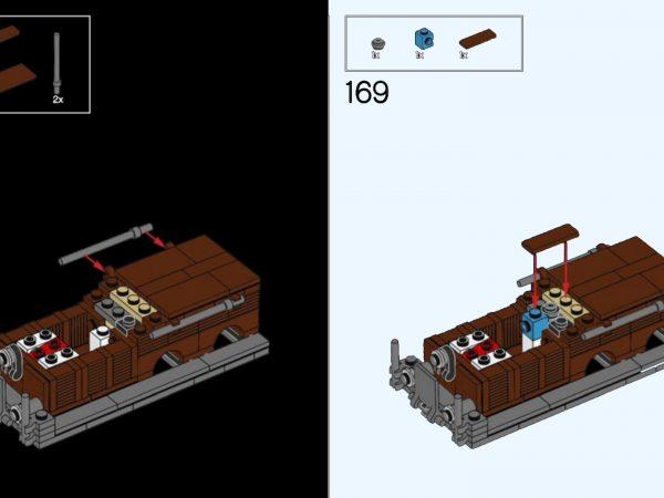 LEGO Crocodile Locomotive dark instructions