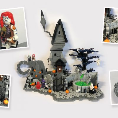 The Nightmare Before Christmas - Halloween Town Banner by Simon Scott - LEGO Ideas