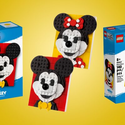 LEGO Brick Sketch Mickey and Minnie Mouse