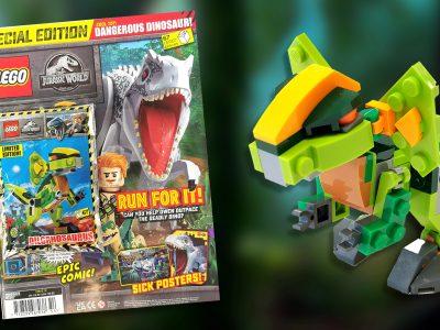LEGO Jurassic World Magazine Issue 15 (Special Edition) with Dilophosaurus